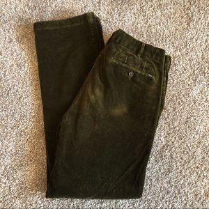Olive Polo Corduroy Pants